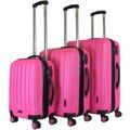 Packenger Premium Koffer 3er-Set Velvet M, L+XL in Magenta