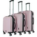 Packenger Premium Koffer 3er-Set Velvet M, L+XL in Mauve