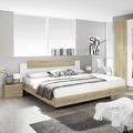 PACK'S Bett Borba Alpinweiß/eiche sonoma 180x200 cm