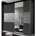 PACK'S Schwebetürenschrank Prenzlau grau/Stonegrey 2180x2100x590 cm