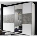 PACK'S Schwebetürenschrank Prenzlau weiß/Stonegrey 2610x2100x590 cm
