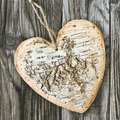 Paper+Design Servietten Tissue Wooden heart 33 x 33 cm 20er