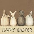 Paper+Design Tissue Servietten Happy Easter Bunnies 25 x 25 cm 20 Stück