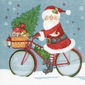 Paper+Design Tissue Servietten Santa on a bike 33 x 33 cm 20 Stück