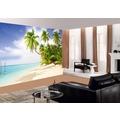 papermoon Die selbstklebende Fototapete, Beach in the South Seas 272 x 198 cm