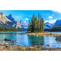 papermoon Fototapete Spirit Island in Maligne Lake 7 Bahnen 350 x 260 cm Vlies