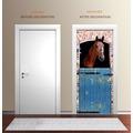 "papermoon Wand & Türdekor, Fototapete ""Tür"", Spezial Tapetenpapier, Horse 90 x 200cm"