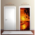 "papermoon Wand & Türdekor, Fototapete ""Tür"", Spezial Tapetenpapier, Sunny Palms 90 x 200cm"