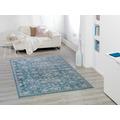 Peyer Syntex Teppich Lilli Allover hellblau 60 cm x 110 cm