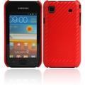 Twins Carbon für Samsung i9000 Galaxy S, rot