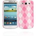 Twins Plaid für Samsung Galaxy S3, pink-weiß