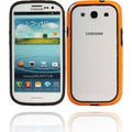 Twins 2Color Bumper für Samsung Galaxy S3, schwarz-orange