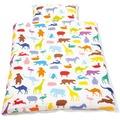 Pinolino Bettwäsche für Kinderbetten 'Happy Zoo', 2-tlg.