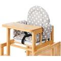 Pinolino Sitzverkleinerer für Kombi-Hochstühle 'Punkte', Stoff, grau