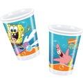"""PROCOS Plastikbecher mit Motiv """"Spongebob Surfing"""", 10 Stück 200 ml"""