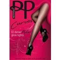 Pretty Polly Curves 10D Nylons Gloss Tights Black