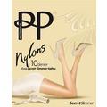 Pretty Polly Nylons 10D Secret Slimmer Tights Black - ML