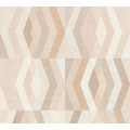 Private Walls Vliestapete Geo Nordic geometrische Tapete beige orange 375331 10,05 m x 0,53 m