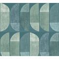 Private Walls Vliestapete Geo Nordic geometrische Tapete blau grün 375313 10,05 m x 0,53 m