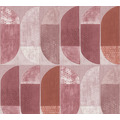 Private Walls Vliestapete Geo Nordic geometrische Tapete rosa rot beige 375316 10,05 m x 0,53 m