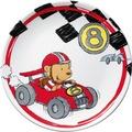PURESIGNS Kinderteller QUICK Rennfahrer Kinder Teller Auto