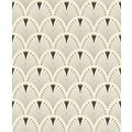 Rasch Tapete Art Nouveau 433210 Creme, Schwarz, Gold 0.53 x 10.05 m