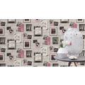 Rasch Tapete Kids & Teens III 212709 Schwarz, Grau, Pink 0.53 x 10.05 m