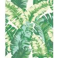 Rasch Tapete Yucatán 535648 Weiß, Grün 0.53 x 10.05 m