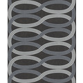 Rasch Vlies Tapete Muster & Motive 541700 Glam Schwarz-Anthrazit 0.53 x 10.05 m