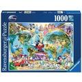 Ravensburger Premiumpuzzle im Standardformat - Disney's Weltkarte