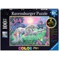 Ravensburger Color Star Line – mehrfarbiges Leuchtpuzzle - Einhörner im Mondschein