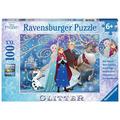 Ravensburger Glitter – Puzzle mit Glitzer - Frozen - Glitzernder Schnee