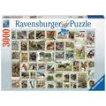 Ravensburger Premiumpuzzle im Standardformat - Tierbriefmarken