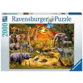Ravensburger Premiumpuzzle im Standardformat - Versammlung am Wasserloch