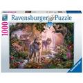 Ravensburger Premiumpuzzle im Standardformat - Wolfsfamilie im Sommer
