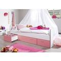 relita Kojenbett BONNY KORPUS weiß Fronten rosa (inkl. Rollrost und Fronten) weiß + rosa