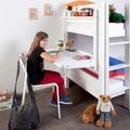 relita Schreibtisch PLUTO, Buche massiv lackiert weiß
