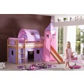 relita Stoffset mit Turm für Betten mit Rutsche purple/rosa-Herz
