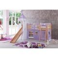relita Stoffset mit Turm für Betten mit Rutsche purple/weiß-Herz