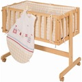 "Roba Beistellbett Room & Cradle ""Sunny Day beige"", Holz natur"