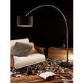 SalesFever Bogenlampe 210 cm weiß Dimmerungsschalter, Ø Lampenschirm 35 cm, echter Marmorfuß