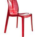 SalesFever Designer Stuhl aus Kunststoff rot