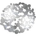 SalesFever Wandspiegel rund aus ovalen Stücken Glas, Holz verspiegelt 391815