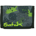 satch pack Geldbörse 13 cm off road schwarz, grün, neon