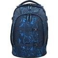 satch Pack Schulrucksack 45 cm Laptopfach blau gemustert