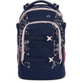satch Pack Schulrucksack 45 cm Laptopfach dark blue rose white