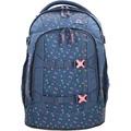 satch Pack Schulrucksack 45 cm Laptopfach kleine dreiecke blau rosa gelb