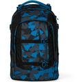 satch pack Schulrucksack 48 cm blue triangle dreiecke blau