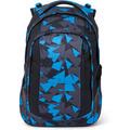 satch sleek Schulrucksack 45 cm blue triangle schwarz, blau