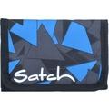 satch Wallet Geldbörse 13 cm dreiecke blau blue triangle